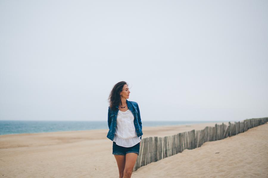 Portrait femme Hossegor plage_-2