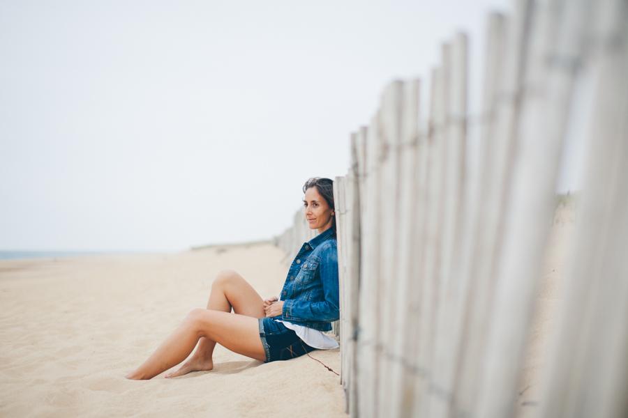 Portrait femme Hossegor plage_-6